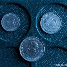 Monete Franco: LOTE 3 MONEDAS SERIE BA DE FRANCO DE 5, 25 Y 50 PTAS. ESTADO SC. Lote 209773253