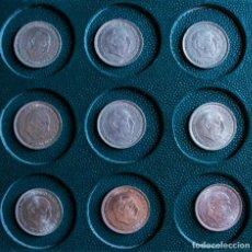 Monete Franco: LOTE 9 MONEDAS 50 PTAS DE 1957 *BA 58* 59* 60* 67* 68* 69* 70* 71* EN MUY BUEN ESTADO. Lote 209774512
