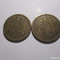 Monedas Franco: LOTE DE 2 MONEDAS DE 1 PESETA DE 1944. Lote 209857243