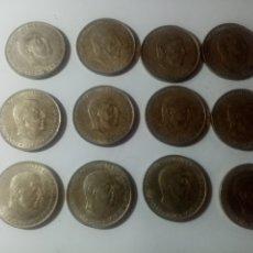 Monedas Franco: LOTE DE 12 MONEDAS DE 100 PESETAS DE PLATA DE FRANCO VARIAS FECHAS. Lote 210353072