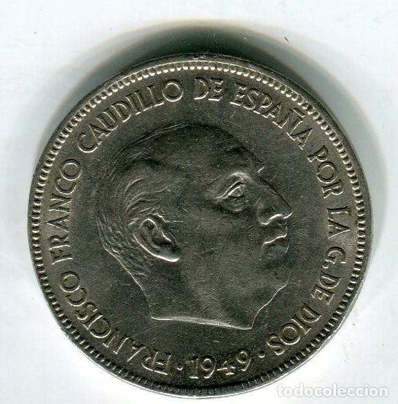 Monedas Franco: ESTADO ESPAÑOL 5 (CINCO) PESETAS 1949 *50 - Foto 2 - 210708027