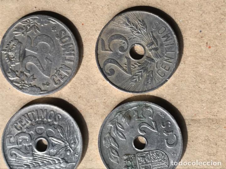 Monedas Franco: Cuatro monedas 25 céntimos 1925,1927,1934 y 1937 - Foto 2 - 210759586
