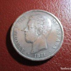 Monedas Franco: ESPAÑA , 5 PESETAS 1871. Lote 211493430