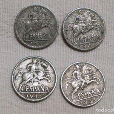 Monedas Franco: LOTE 63 MONEDAS 10 CÉNTIMOS 1940, 1941, 1945 Y 1953. Lote 211512447