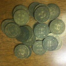 Monedas Franco: LOTE 25 MONEDAS DE 1 PESETA FRANCO 1944.. Lote 211518426