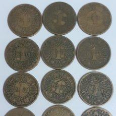Monedas Franco: LOTE DE 12 MONEDAS DE 1PESETA DEL AÑO 1944. Lote 211829625