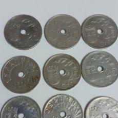 Monedas Franco: LOTE DE MONEDAS DE 25 CÉNTIMOS, II AÑO TRIUNFAL 1937. Lote 211830105