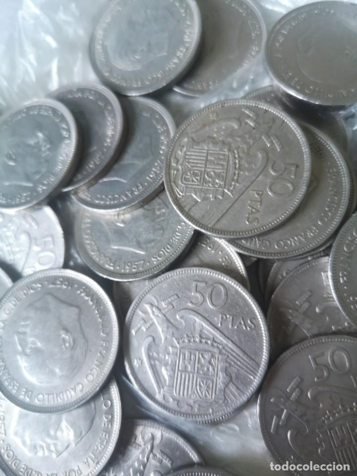 LOTE 50 MONEDAS 50 PESETAS 1957 (Numismática - España Modernas y Contemporáneas - Estado Español)