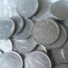 Monedas Franco: LOTE 50 MONEDAS 50 PESETAS 1957. Lote 212238705