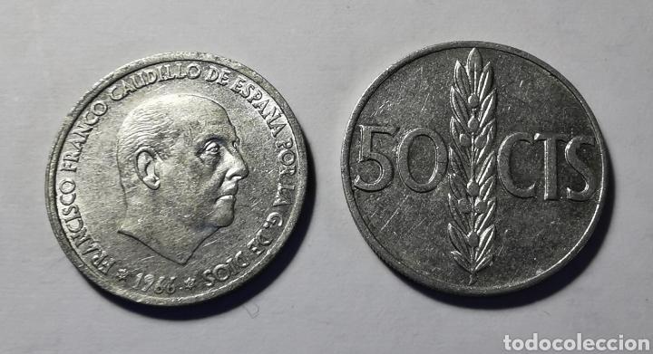 MONEDA ESPAÑA ... ESTADO ESPAÑOL ... 50 CENTIMOS 1966 *68 (Numismática - España Modernas y Contemporáneas - Estado Español)