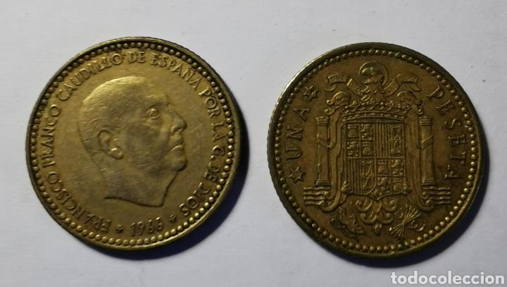 MONEDA ESPAÑA ... ESTADO ESPAÑOL ... 1 PESETA 1966 *74 (Numismática - España Modernas y Contemporáneas - Estado Español)