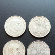 Monedas Franco: 4 MONEDAS 100 PESETAS PLATA 1966. B6. Lote 213296586