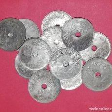 Monedas Franco: LOTE DE MONEDAS 25 CÉNTIMOS AÑO 1937. Lote 213657860