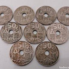 Monedas Franco: LOTE 9 MONEDAS 50 CENTIMOS. ESTADO ESPAÑOL. 1949 Y 1963. DISTINTOS ESTADOS DE CONSERVACIÓN. Lote 213753141