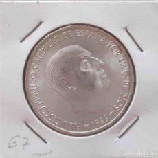 Monedas Franco: MONEDA PLATA 100 PESETAS 1966*67 SC. Lote 213769635