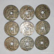 Monedas Franco: LOTE DE 9 MONEDAS DE 50 CÉNTIMOS AÑO 1949. TODAS *52. Lote 214533283
