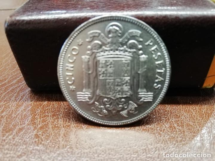 Monedas Franco: 9 monedas pesetas españolas del estado español de Franco 1937 a 1966 - Foto 2 - 214851083