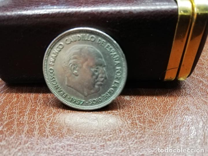 Monedas Franco: 9 monedas pesetas españolas del estado español de Franco 1937 a 1966 - Foto 3 - 214851083