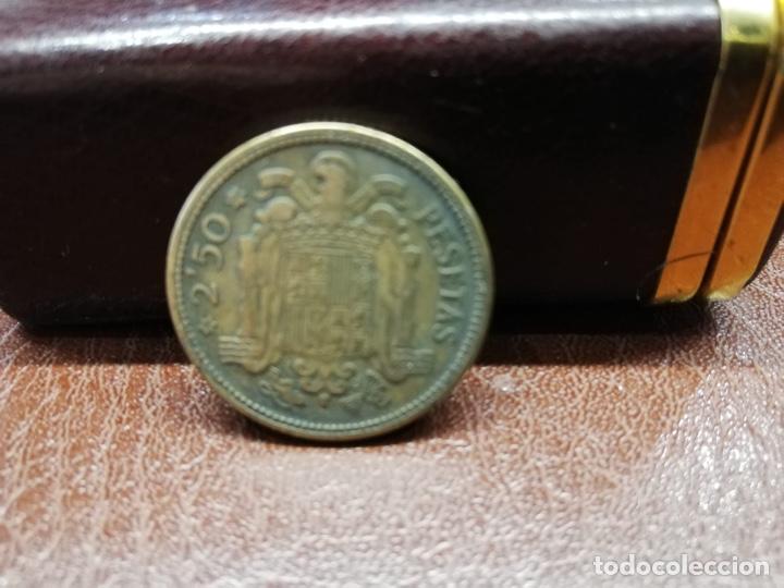 Monedas Franco: 9 monedas pesetas españolas del estado español de Franco 1937 a 1966 - Foto 8 - 214851083