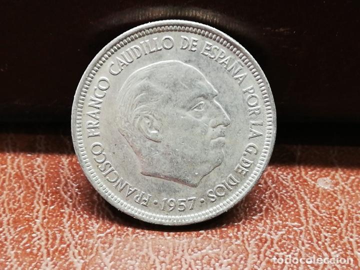 Monedas Franco: 9 monedas pesetas españolas del estado español de Franco 1937 a 1966 - Foto 10 - 214851083
