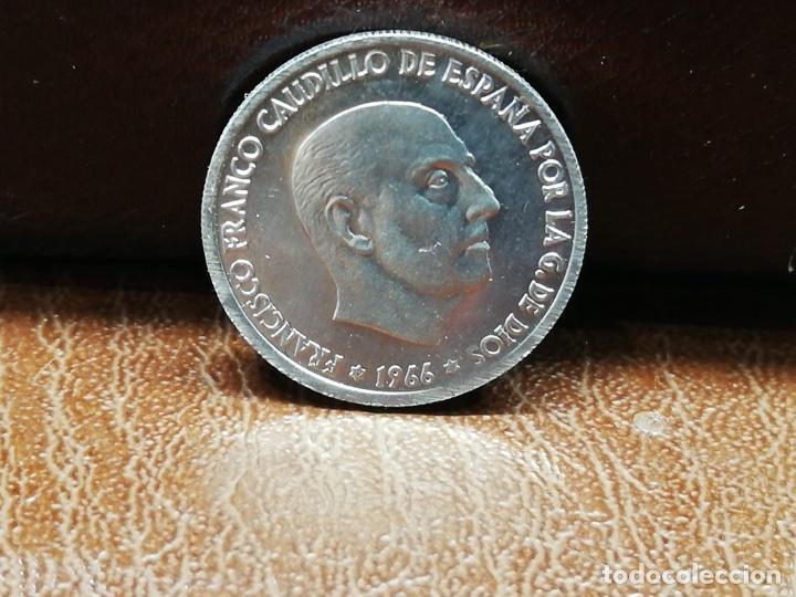 Monedas Franco: 9 monedas pesetas españolas del estado español de Franco 1937 a 1966 - Foto 14 - 214851083