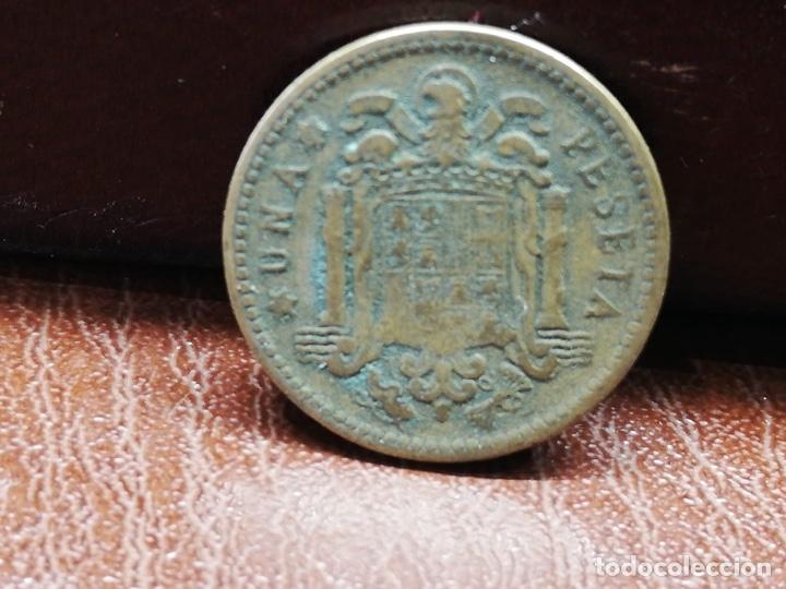 Monedas Franco: 9 monedas pesetas españolas del estado español de Franco 1937 a 1966 - Foto 16 - 214851083