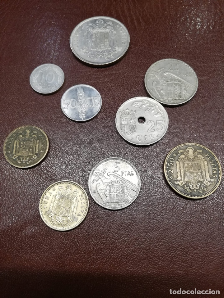 9 MONEDAS PESETAS ESPAÑOLAS DEL ESTADO ESPAÑOL DE FRANCO 1937 A 1966 (Numismática - España Modernas y Contemporáneas - Estado Español)