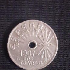Monedas Franco: MONEDA DE 25CMS DE 1937. Lote 215493326