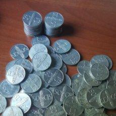 Monedas Franco: LOTE DE 102 MONEDAS DE ALUMINIO DE 50 CÉNTIMOS DE FRANCO DE VARIOS AÑOS EBC. SIN COMPROBAR ESTRELLAS. Lote 217024033