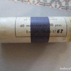 Monedas Franco: CARTUCHO DE 50 PESETAS DE 1957*67DE FRANCO MUY DIFÍCIL. Lote 217160470