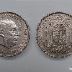 Monedas Franco: 2 MONEDAS DE 5 PTAS. DE FRANCO, 1949 * 50, DENOMINADAS EL DURO GRANDE. Lote 81801148