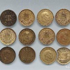 Monedas Franco: LOTE DE 12 MONEDAS DE 1 PESETA DE FRANCO, DE 1944 A 1966. Lote 218133673