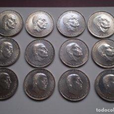Monedas Franco: 12 MONEDAS 100 PESETAS 1966 (*19-66) PLATA.. Lote 218309882