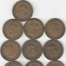 Monedas Franco: FRANCO: LOTE 10 MONEDAS DE 2,5 PESETAS AÑO 1953 ESTRELLAS 54-56. Lote 218428486