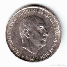 Monnaies Franco: ESPAÑA: 100 PESETAS PLATA FRANCO 1966 ESTRELLA 70 (1970). Lote 290016048
