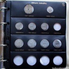 Monedas Franco: ALBUM NUMISMATICO CONTENIENDO 93 MONEDAS DEL ESTADO ESPAÑOL (FRANCISCO FRANCO). LOTE 3432. Lote 218771925