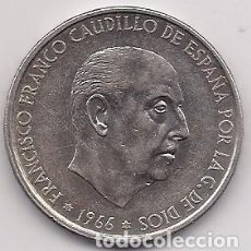 Monete Franco: ESPAÑA - MONEDA DE 100 PESETAS DE PLATA DE 1966 - ESTRELLA 70. Lote 219301578