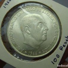 Monedas Franco: 100 PESETAS. PLATA. FRANCO. 1966 *19 *67 SC (SIN CIRCULAR). Lote 219479157