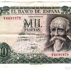 Monnaies Franco: BILLETE DE MIL PESETAS - SEPTIEMBRE DE 1971 - JOSÉ ECHEGARAY. Lote 220594048