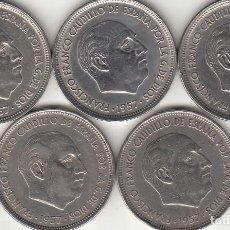 Monedas Franco: FRANCO: 50 PESETAS 1957 * 58 - 59 - 60 - 67 - 71 ( LOTE 5 MONEDAS ) / MUY BUENA CONSERVACION. Lote 220646666