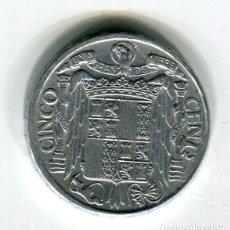 Monedas Franco: 5 (CINCO) CENTIMOS AÑO 1941 PLVS VLTRA. Lote 220915558