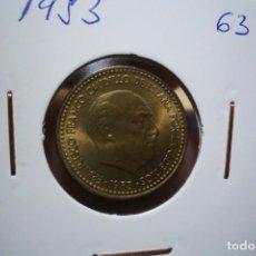 Monedas Franco: 1 PESETA 1953 *19 *63 SIN CIRCULAR PLENO BRILLO ORIGINAL. Lote 221342250