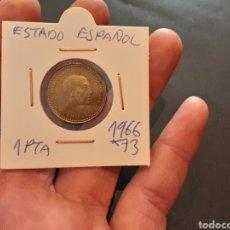 Monedas Franco: MONEDA 1 PESETA 1966 ESTRELLA 73 ESTADO ESPAÑOL ESPAÑA. Lote 221368185