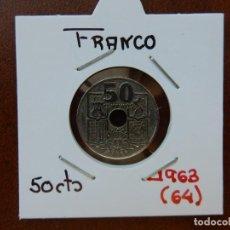Monedas Franco: MONEDA DE 50 CENTIMOS DE 1963 (*64) - ESTADO ESPAÑOL. Lote 221682686