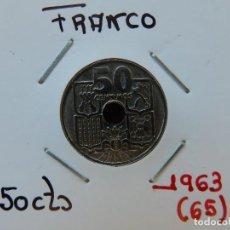 Monedas Franco: MONEDA DE 50 CENTIMOS DE 1963 (*65) - ESTADO ESPAÑOL. Lote 221682830