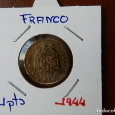 Monedas Franco: MONEDA DE 1 PESETA DE 1944 - ESTADO ESPAÑOL. Lote 221683045
