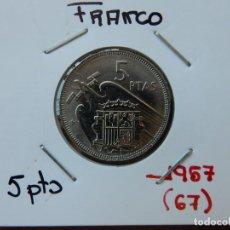 Monedas Franco: MONEDA DE 5 PESETAS DE 1957 (*67) - ESTADO ESPAÑOL. Lote 221684128