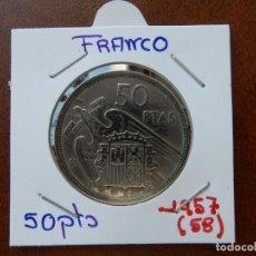 Monedas Franco: MONEDA DE 50 PESETAS DE 1957 (*58) - ESTADO ESPAÑOL. Lote 221684741