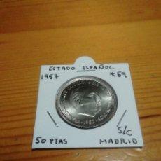 Monedas Franco: 50 PESETAS DE 1957 ESTRELLA 59 SIN CIRCULAR.. IMPRESIONANTE. Lote 221836266