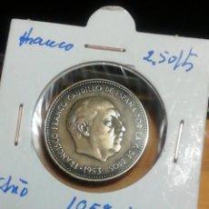 Monedas Franco: MONEDA DE 2.5 PESETAS DE 1953 ESTRELLA 54. IMPRESIONANTE. Lote 221837400